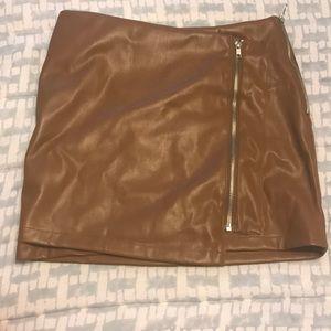 LULUS Faux Leather Mini skirt